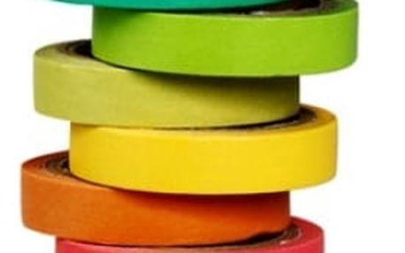 Barevné papírové pásky - 10 ks v balení