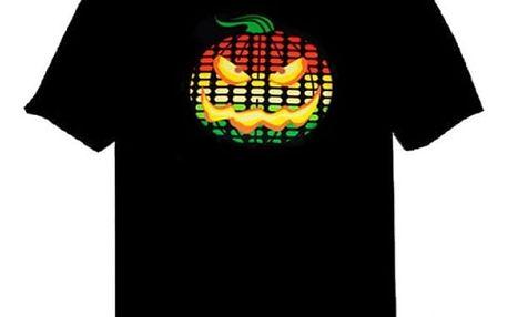 LED halloween tričko s dýní - L