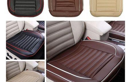 Autopotah na sedadlo s imitací kůže - černá - dodání do 2 dnů