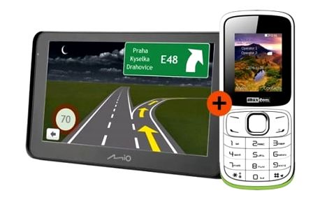 Navigační systém GPS Mio Spirit 8500 Full Europe Lifetime černá + dárek