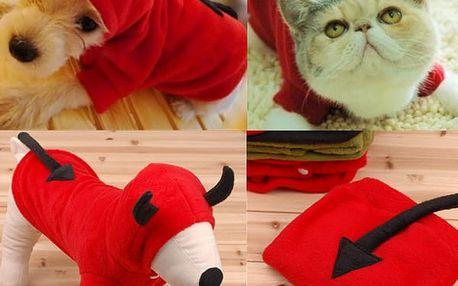 Čertík - kostým pro psy a kočky - M