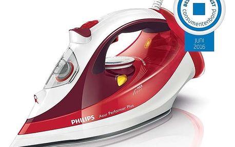 Žehlička Philips Azur Performer Plus GC4516/40 červená + DOPRAVA ZDARMA