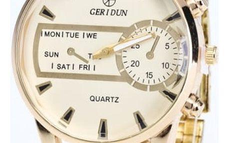 Unisex hodinky ve zlaté barvě - ciferník zlaté barvy