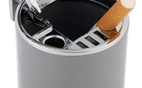 Přenosný popelník nejen do auta - Stříbrná - dodání do 2 dnů