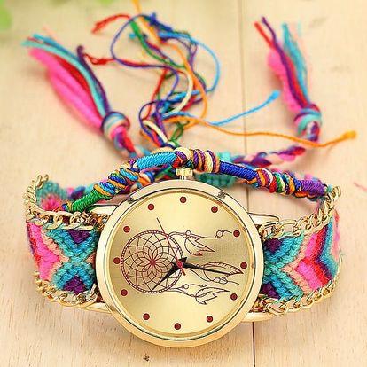 Zdobené hodinky s lapačem snů - mix barev