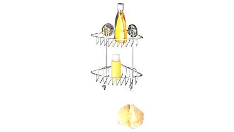 Dvoupatrový rohový stojan bez nutnosti vrtání Wenko Vacuum-Loc, až 33 kg