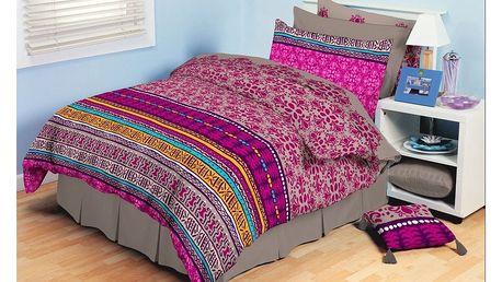 Tip Trade bavlna povlečení Ardis růžové , 220 x 200 cm, 2 ks 70 x 90 cm, 220 x 200 cm, 2 ks 70 x 90 cm