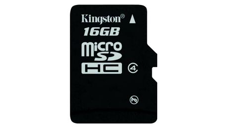 Kingston Micro SDHC 16GB Class 4 - SDC4/16GBSP
