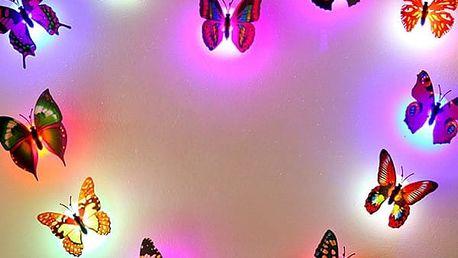 Svítící motýlek - dekorace na zeď