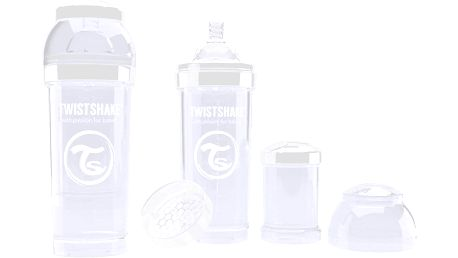TWISTSHAKE Antikoliková láhev 260ml Bílá