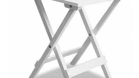 Venkovní konferenční/odkládací stolek bílý V1436 Dekorhome