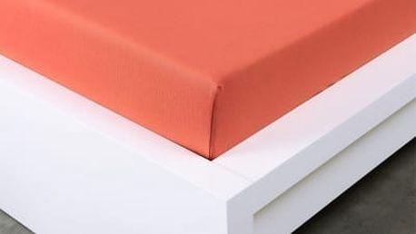 XPOSE ® Jersey prostěradlo Exclusive dvoulůžko - cihlová 180x200 cm