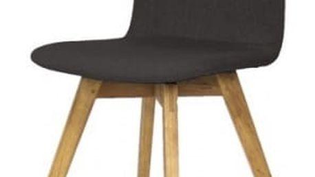 Jídelní židle Mia - (dub, látka antracitová)