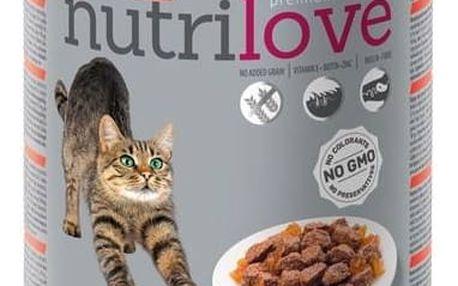 Konzerva Nutrilove Cat chunks Beef jelly 400g