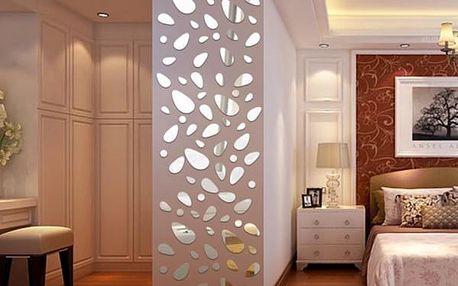 Dekorační zrcadlové samolepky - tvar oblázků