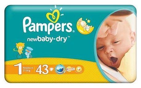 Pampers New baby NEWBORN vel. 1, 43 ks