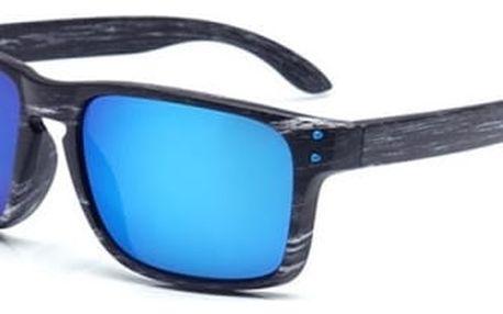 Pánské sluneční brýle s dřevěným motivem