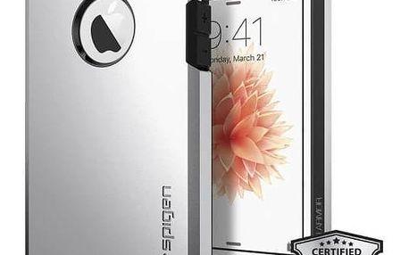Kryt na mobil Spigen Tough Armor pro Apple iPhone 5/5s/SE (041CS20251) stříbrný + Doprava zdarma