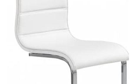 K104 - Jídelní židle (bílá, stříbrná)