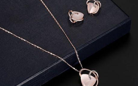 Sada šperků v barvě růžového zlata