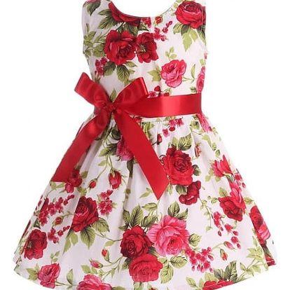 Dětské květinové šatičky s mašlí - 7 variant