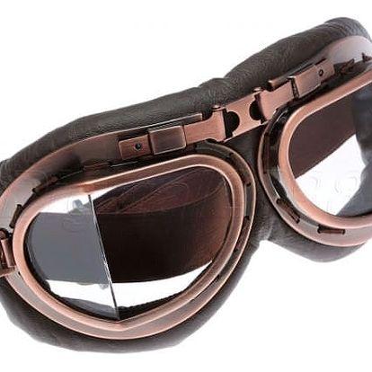 Retro brýle pro motorkáře - 5 variant ztmavení skel