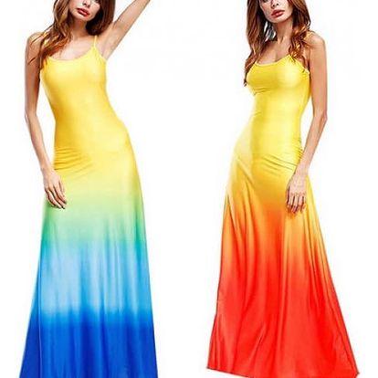 Dlouhé letní šaty na ramínka Evelynn