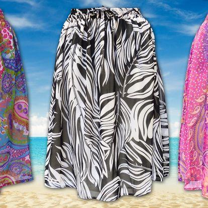 Barevné šifonové sukničky