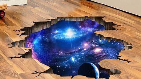 3D samolepka na podlahu - Mléčná dráha