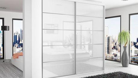 Belini Posuvná šatní skříň BEAUTY - bílý korpus