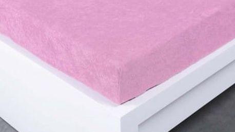 XPOSE ® Froté prostěradlo dvoulůžko - levandulová 180x200 cm