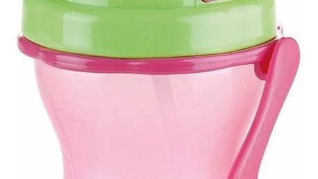 Tescoma Dětská láhev s brčkem BAMBINI růžová 668172
