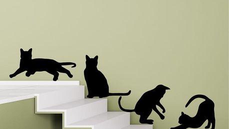 Samolepka na stěnu Cats Silhouettes