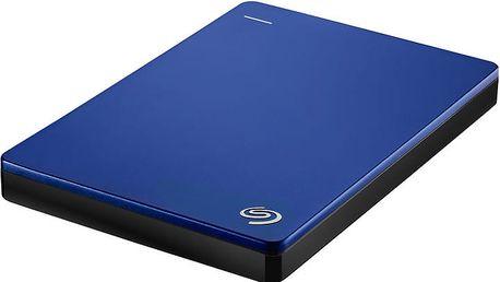 Seagate BackUp Plus Slim Portable 2TB, modrá - STDR2000202 + Seagate Backup Plus Slim bumper na externí disk
