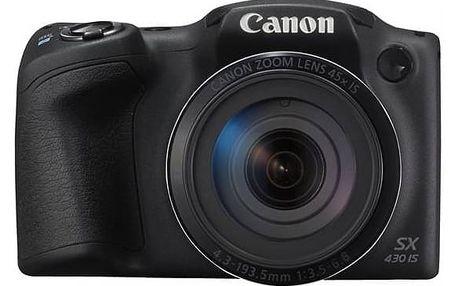 Digitální fotoaparát Canon PowerShot PowerShot SX430 IS (1790C002) černý + Doprava zdarma