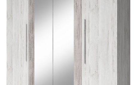 HELVETIA ERA - Šatní skříň se zrcadlem (20)