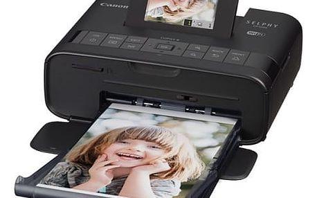 Fototiskárna Canon CP-1200 Selphy + sada 54 papírů a folií (0599C013) černá