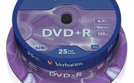 Médium Verbatim DVD+R 4,7GB 16x 25-cake