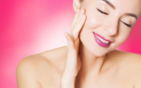 Až 60min. péče o obličej s možností masáže obličeje, krku a dekoltu