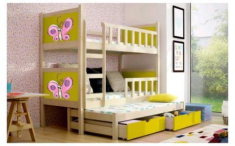 Chojmex Dětská patrová postel PINOKIO 3