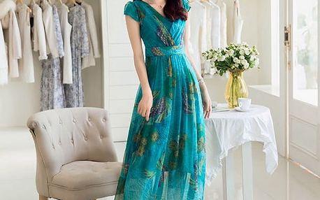 Květované šaty až do nadměrných velikostí - 4 barvy