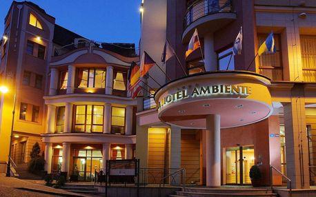 Hotel Ambiente **** v centru Karlových Varů s polopenzí, neomezeným wellness a klasickou masáží pro dva