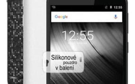 Mobilní telefon iGET A5 + balení 2 kryty (černý a bílý) a silikonové pouzdro (84000134)