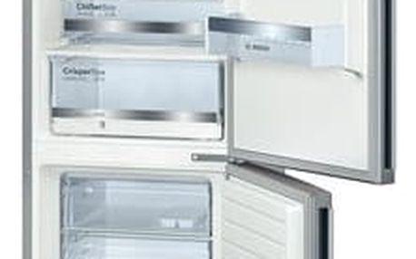 Kombinace chladničky s mrazničkou Bosch KGE36DL40 nerez + dárek