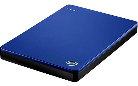 Seagate BackUp Plus Slim Portable 2TB, modrá - STDR2000202 + Seagate Backup Plus Slim bumper na externí disk