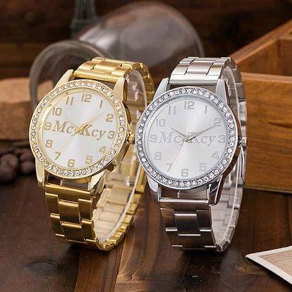 Unisex hodinky s kamínkovým zdobením - 3 barvy