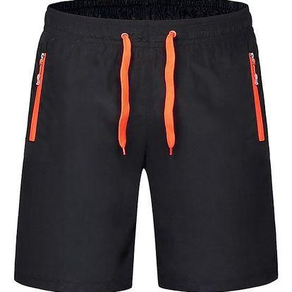 Plážové rychleschnoucí šortky pro muže - oranžová, vel. 9XL