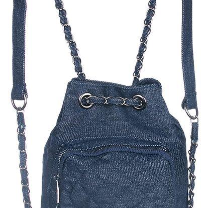 Dámský batoh mini džinový