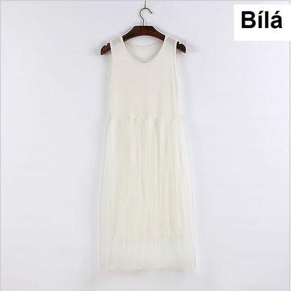 Pohodlné šaty na letní radovánky - bílé