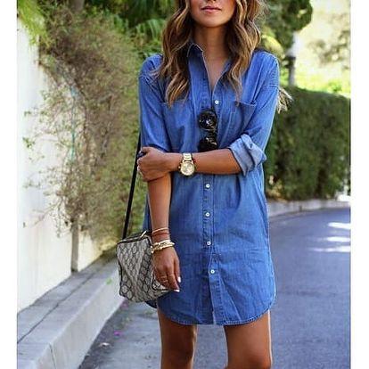 Džínové šaty ve stylu košile - velikost 4
